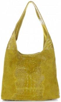 Kožené kabelky Aligator Žlutá