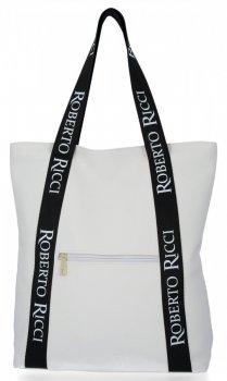 Módní Dámské Kabelky Shopper značky Roberto Ricci Bílá