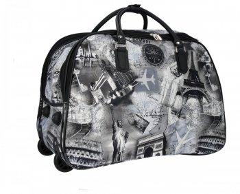 Cestovní taška na kolečkách s výsuvnou rukojetí Or&Mi Město Multicolor Černá