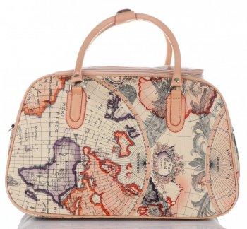 Velká cestovní taška kufřík Or&Mi World Multicolor - béžová