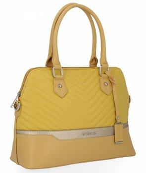Elegantní Dámská Kabelka Módní Kufřík značky David Jones Žlutá