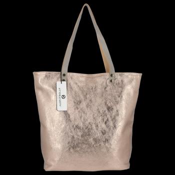 Módní Kožené Dámské Kabelky Shopper Bag Vittoria Gotti Staré Zlato