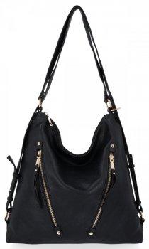 Univerzální Dámská Kabelka Grace Bags Batoh Černá