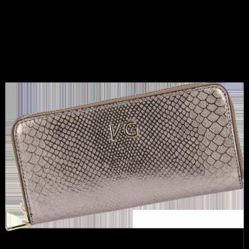Luxusní Dámská Kožená Peněženka s motivem aligátora Vittoria Gotti Made in Italy Staré zlato