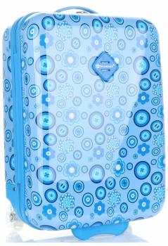 Módní Palubní kufřík s motivem květin Snowball modrá