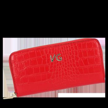 Vittoria Gotti Elegantní Dámská Kožená Peněženka s motivem aligátora Červená