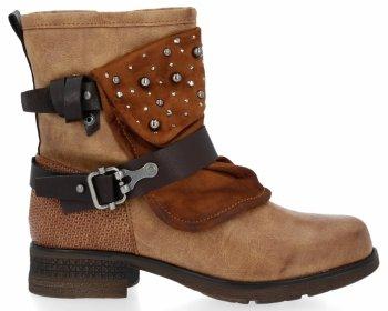 Zrzavé módní kotnikove boty Rita