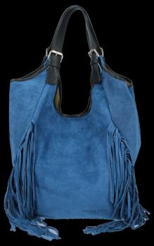Módní Italské Kožené Dámské Kabelky Shopper Bag Boho Style Džínová