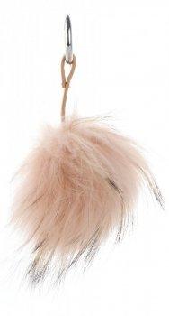 Přívěšek ke kabelce Pompon z přírodního vlasu mýval meruňkový