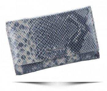 Dámská kožená peněženka Pierre Cardin hadí vzor stříbrná