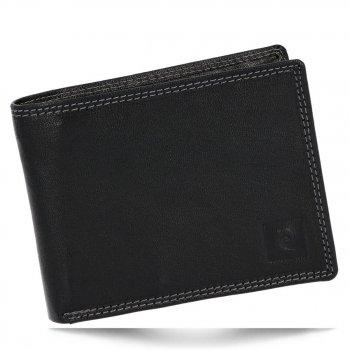 Pierre Cardin Pánská kožená peněženka černá