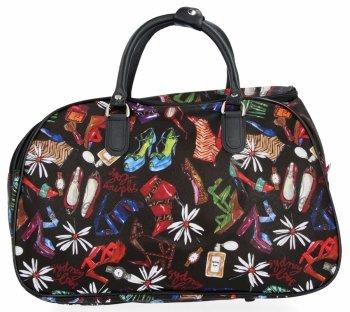 Velká Cestovní Taška Kufřík Or&Mi Shoes Multicolor - černá