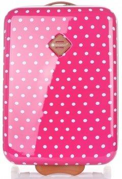 Módní Palubní kufřík tečkovaná Snowball růžová