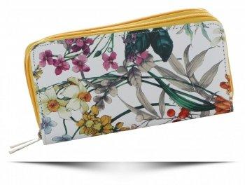 Dámská Peněženka XL David Jones vzorek v květinách Multicolor Žlutá