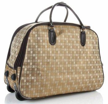 Cestovní taška na kolečkách s výsuvnou rukojetí Or&Mi Šachovnice Zlatá