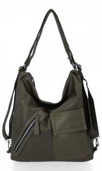 Univerzální Dámská Kabelka Grace Bags Batoh Zelená