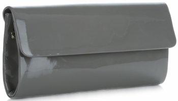 elegantní lakované dámské kabelky psaníčka šedá