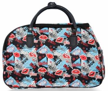 Velká Cestovní Taška Kufřík Or&Mi Kiss Multicolor - černá