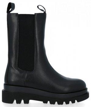 Černé dámské boty na platformě Milano
