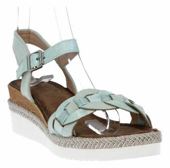 Zelené módní dámské klínové sandály Lady Glory