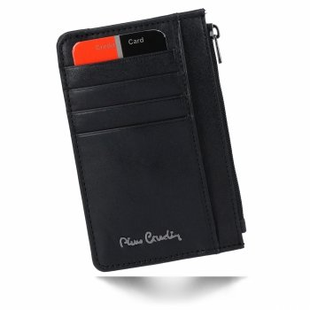 Elegantní Pánská Kožená Peněženka Pierre Cardin Pouzdro na Karty Černá