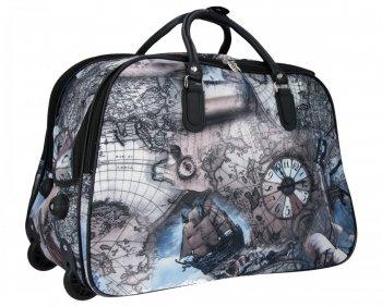 Cestovní taška na kolečkách s výsuvnou rukojetí Or&Mi Mapa Multicolor Černá