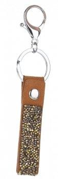 Přívěšek ke kabelce Glam Rock Key s Křišťály zrzavá
