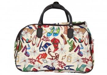 Cestovní Taška Kufřík Medium Or&Mi Shoes Multicolor - Béžová