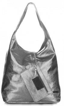 Kožená kabelka Shopper Bags kosmetickou kapsičkou Iron