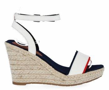 Bílé dámské klínové sandály Lady Glory