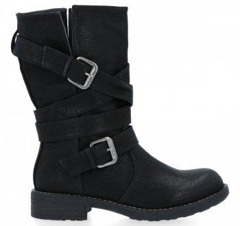 Černé univerzální kotníkové boty Verona