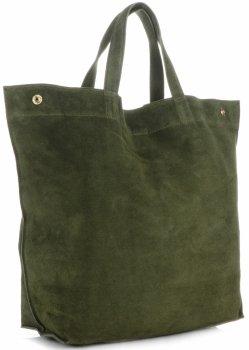 Univerzální Dámské kabelky ShopperBag XL Vera Pelle zelená
