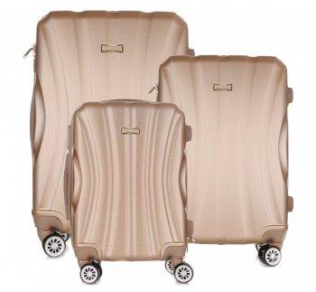 Super sada italských kufrů Or&Mi 3 v 1 zlatá