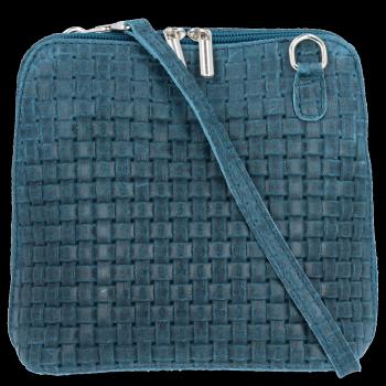 Malé kožené kabelky listonošky Genuine Leather Mořská