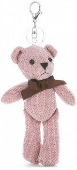 Přívěšek ke kabelce Plyšový medvídek růžový