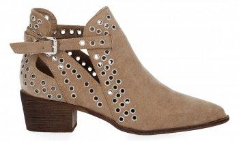 Béžové kotníkové boty na podpatku značky Bellucci