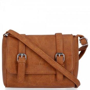 BEE BAG Torebka Damska Listonoszka Vintage Bag Brązowa