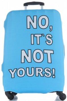Pokrowiec na Walizkę firmy Snowball w rozmiarze L No its not yours Błękit