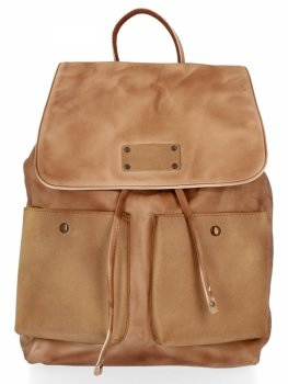 Stylowe Plecaczki Damskie na co dzień firmy Diana&Co Ciemno Beżowy