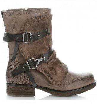 Botki Damskie firmy Crystal Shoes Khaki