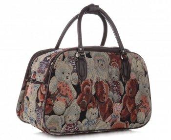 Mała Torba Podróżna Kuferek Or&Mi Teddy Bear Multikolor - Beżowa