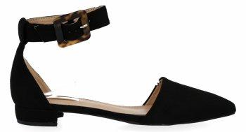 Czarne eleganckie sandały damskie firmy Bellucci