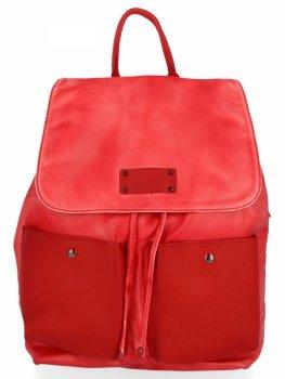 Stylowe Plecaczki Damskie na co dzień firmy Diana&Co Czerwony