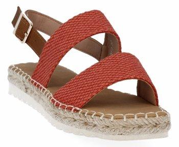 Pomarańczowe sandały damskie espadryle firmy Bellucci