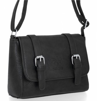 BEE BAG Torebka Damska Listonoszka Vintage Bag Czarna