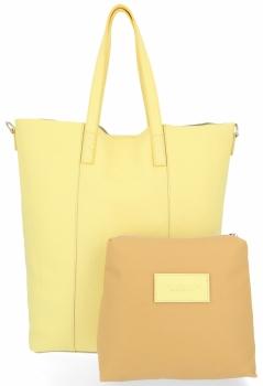 Vittoria Gotti Firmowy Shopper Made in Italy z Kosmetyczką Limonka