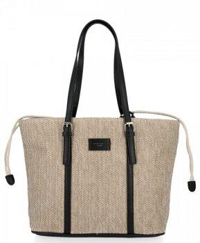 Ratanowe Torebki Damskie Shopper Bag firmy David Jones Czarna