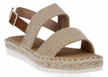 Camelowe sandały damskie espadryle firmy Bellucci