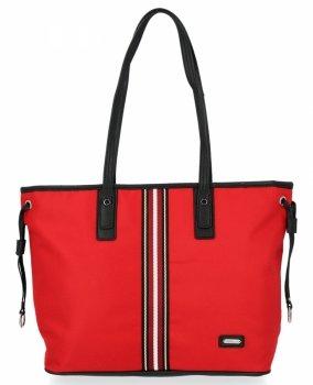 Modna Torebka Damska Shopper Bag firmy David Jones Czerwona