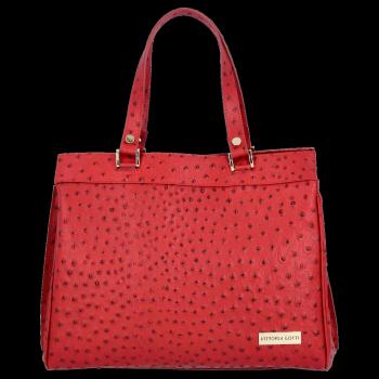 Vittoria Gotti Firmowy Kuferek Skórzany Made in Italy Czerwony